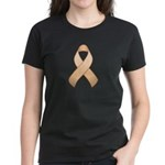 Peach Awareness Ribbon Women's Dark T-Shirt