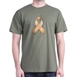 Peach Awareness Ribbon Dark T-Shirt