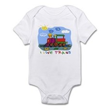 I Love Trains Onesie