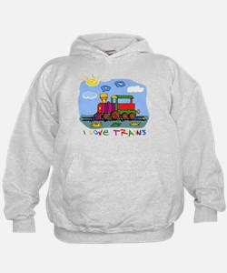 I Love Trains Hoody
