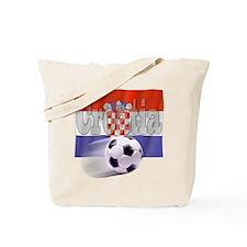 Soccer Flag Croatia Tote Bag
