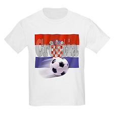 Soccer Flag Croatia Kids T-Shirt