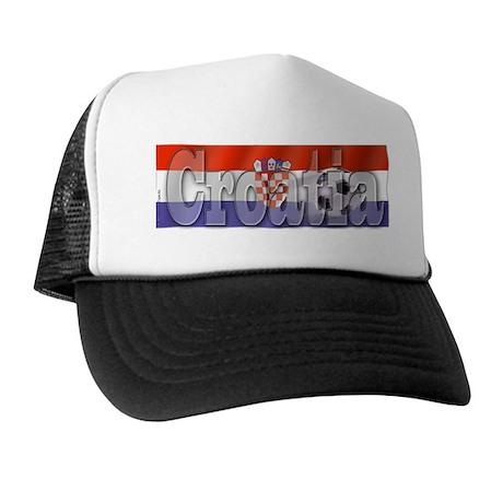 Soccer Flag Croatia Trucker Hat