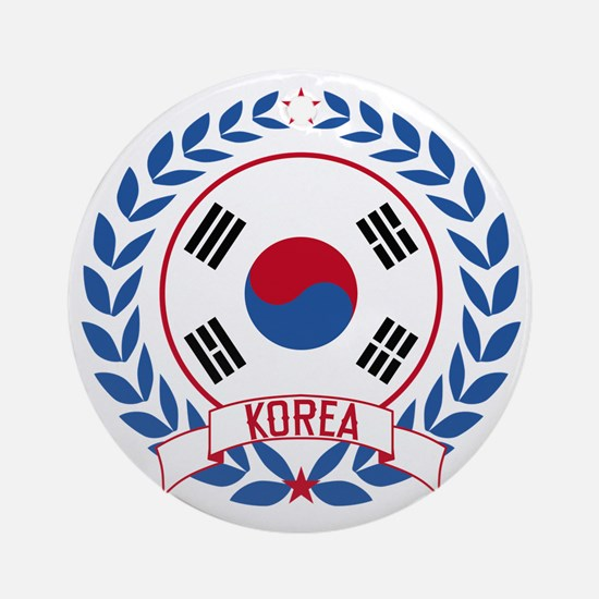 koreawreath Round Ornament