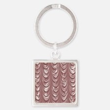 PinkSatinScallopsSQ12 Square Keychain