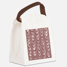 PinkSatinScallopsSQ12 Canvas Lunch Bag