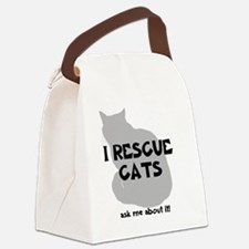 IRescuecats Canvas Lunch Bag