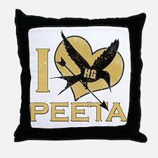 I_Heart_Peeta Throw Pillow