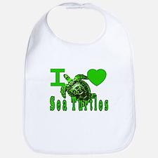 I LOVE ( Heart ) Sea Turtles  Bib