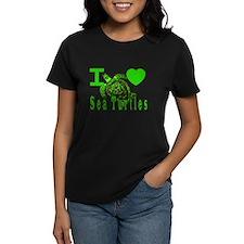 I LOVE ( Heart ) Sea Turtles  Tee