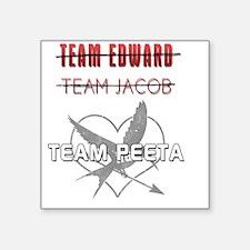 "team_peeta Square Sticker 3"" x 3"""