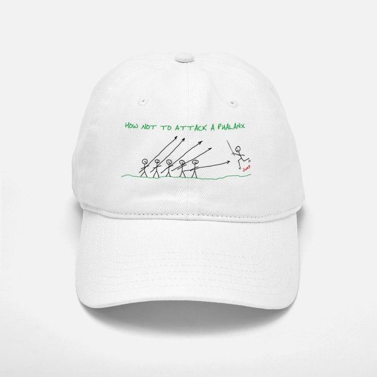 how not to attack a phalanx Baseball Baseball Cap
