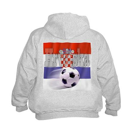 Soccer Flag Hrvatska (B) Kids Hoodie