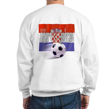 Soccer Flag Hrvatska (B) Sweatshirt