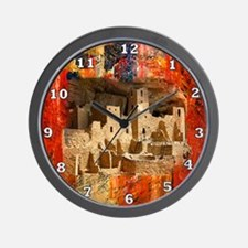 Adobe Cliffs Wall Clock