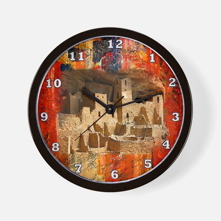 Adobe Cliffs Wall Clock