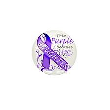 I Wear Purple Because I Love My Daught Mini Button