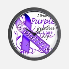 I Wear Purple Because I Love My Daughte Wall Clock
