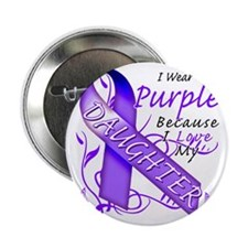 "I Wear Purple Because I Love My Daugh 2.25"" Button"