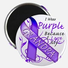 I Wear Purple Because I Love My Grandpa Magnet