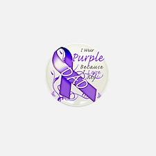 I Wear Purple Because I Love My Dad Mini Button