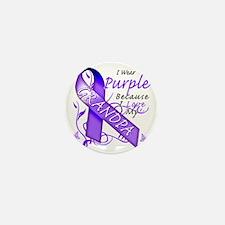 I Wear Purple Because I Love My Grandp Mini Button