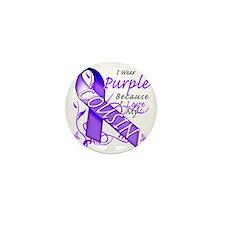 I Wear Purple Because I Love My Cousin Mini Button