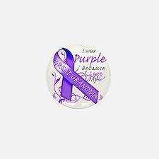 I Wear Purple Because I Love My Great  Mini Button