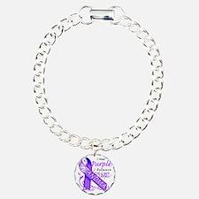 I Wear Purple Because I  Bracelet