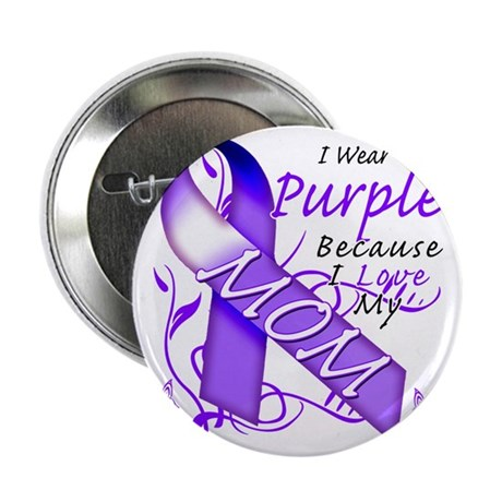 "I Wear Purple Because I Love My Mom 2.25"" Button"