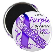 I Wear Purple Because I Love My Husband Magnet