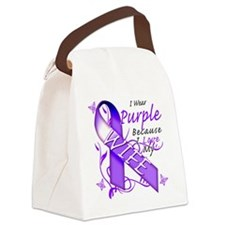 I Wear Purple Because I Love My W Canvas Lunch Bag