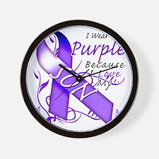 I Wear Purple Because I Love My Son Wall Clock