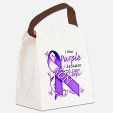 I Wear Purple Because I Love My S Canvas Lunch Bag