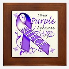 I Wear Purple Because I Love My Niece Framed Tile