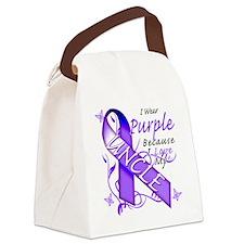 I Wear Purple Because I Love My U Canvas Lunch Bag