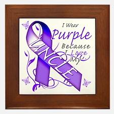 I Wear Purple Because I Love My Uncle Framed Tile