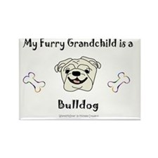 BulldogWhite Rectangle Magnet
