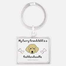 Goldendoodle Landscape Keychain