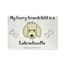 LabradoodleYellow Rectangle Magnet