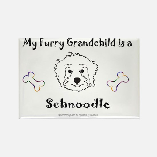 SchnoodleWhite Rectangle Magnet