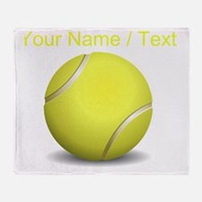 Custom Tennis Ball Throw Blanket