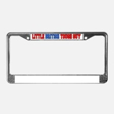 Little British Tough Guy Baby  License Plate Frame