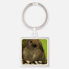 bunny_9 Square Keychain