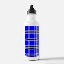 kindlesleeveblueplaidp Water Bottle