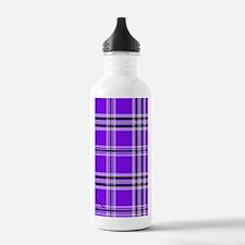 kindlesleevepurpplaidp Water Bottle