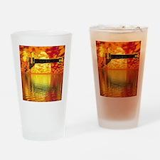 SunsetGuitarShower2 Drinking Glass