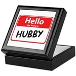 Hello My Name is Hubby Keepsake Box