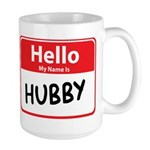 Hello My Name is Hubby Large Mug