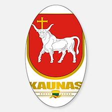 Kaunas COA (Flag 10)2 Sticker (Oval)
